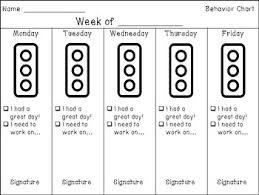 Weekly Behavior Chart For Home School To Home By Sjcurran Rational Behavioral Chart For Home
