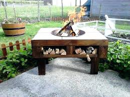 fire pit table lid wood fire pit table pallet fire pit table with firewood storage pallets fire pit table