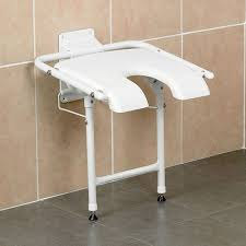 folding shower seat with legs padded
