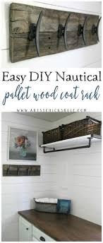 Easy Diy Coat Rack Easy DIY Nautical Pallet Wood Coat Rack artsychicksrule Artsy 100