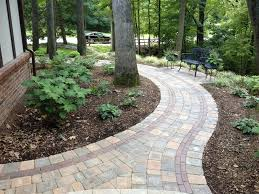 Small Picture Brick Paver Walkway Curved Paver Walkway Walkway and Path Miller