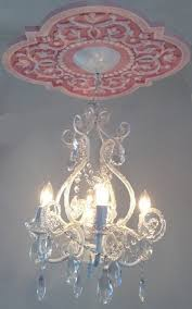 pink chandelier marie ricci collection med vine w 4 arm white chandelier copy