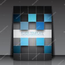 d squares business flyer template vector design stock vector 3d squares business flyer template vector design stock illustration