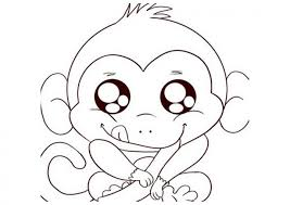 Small Picture Free Printable Monkey Coloring Pages For Kids Throughout Of