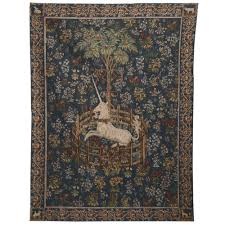 unicorn in captivity tapestry wall hanging  the met store