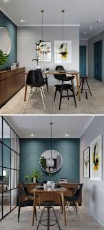 Mur bleu canard et style loft - Blog Dco. Accent Wall In KitchenBlue ...