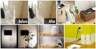 12 Ways How to Hide Electrical Cords And To Create Cable Wall Art At Home