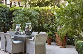 on the west patio of the kips bay palm beach show house landscape designer fernando