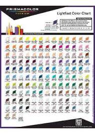 Prismacolor Art Markers Color Chart Prismacolor Premier Thick Core Colored Pencil Set 24 Colors