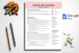 Modern Resume Template Google Docs Resume Templates Creative Market