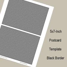 5x7 border template 5x7 postcard template black border digital download from