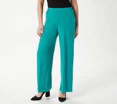 Bob Mackie Regular Wide Leg Knit Pants With Pockets Qvc Com