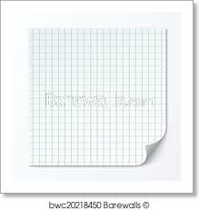 Cell Page Sheet Sheet Of Graph Paper Grid Texture Art Print Poster
