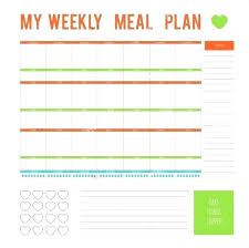 Meal Planning Spreadsheet Excel Meal Planner Template With Grocery List Turkeytravel Co
