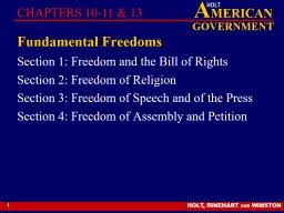 Bill Of Rights Powerpoint 1 Fundamental Freedoms Section 1 Freedom And The Bill Of Rights