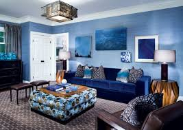 Living Room, Blue Living Room Ideas With Blue Sofa And Carpet With Blue  Wall And