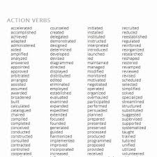 Action Words To Use In A Resume Mesmerizing Resume Action Words Perfect Strong Action Verbs For Resumes How To