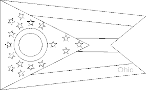 Small Picture Ohio State Flag Coloring Pages USA for Kids