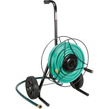 advantage exclusive ironton garden hose reel cart holds 100ft l x 5 8in dia