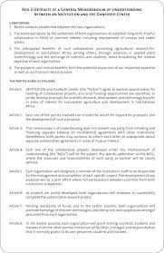 Box 2 Extracts Of A General Memorandum Of Understanding