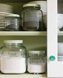 Kitchen Storage Canisters Etched Glass Storage Jars Martha Stewart