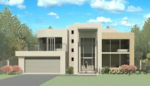 Modern Twostory Small House Plan For Single Family Design  Home Two Storey Modern House Designs