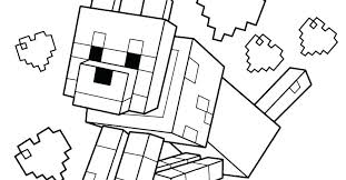 Minecraft Coloring Pages Animals For Kids