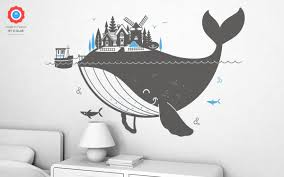 whale kids wall decals xl