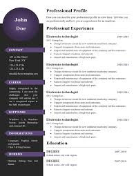 New Resume Templates Newest Resume Format Download