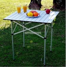 aluminum roll up folding table outdoor camping picnic indoor desk heavy duty er9
