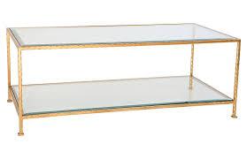 chloé glass coffee table gold leaf 1