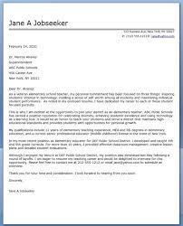 Elementary Teacher Cover Letter Samples 70 Images Leading