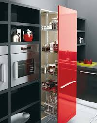 Kitchen Feature Wall Paint Fabulous Modern Red Black And White Kitchen Decoration Using
