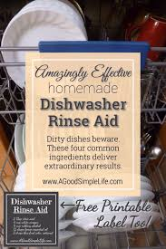 homemade dishwasher cleaner. Amazingly Effective DIY Dishwasher Rinse Aid \u2022 A Good Simple Life Homemade Cleaner