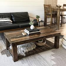 reclaimed wood coffee table rustic