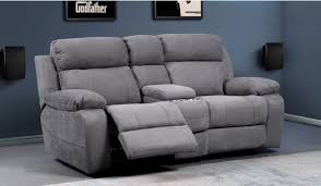 novell slim faux suede 2 cinema seating