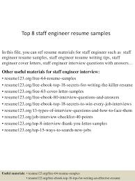 Good Engineering Resume Sample Best Of Top 24 Staff Engineer Resume Samples