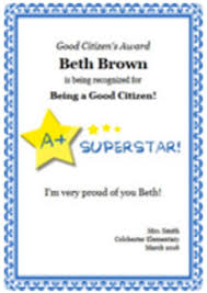 Achievement Awards For Elementary Students Student Award Certificates Free Certificate Builder