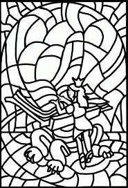 Stained Glass Coloring Pages Printable Coloringstar
