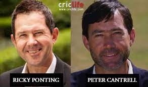 Ricky Ponting and Peter Cantrell - Cricket Country