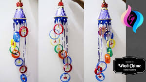 Plastic bottle wind chime - Homemade wind chimes ideas - Making wind chimes  out recycled materials