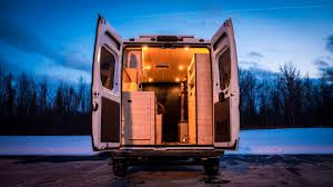 Converted Vans Tiny Home Stealth Camper Conversion Van Built In 180 Hours Youtube