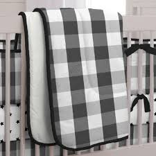 black buffalo check crib comforter