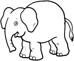 Animal Coloring Pages Elementary Elephant Photo Album