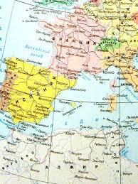 Карта Европы Европа Карта дорог европы Подробная карта европы  Фото Скачать карту Западной Европы