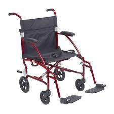 drive fly lite ultra lightweight burgundy transport wheelchair