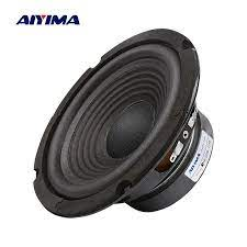AIYIMA 1Pc 6.5 Inch Subwoofer Speaker 4 Ohm 100W Woofer Speaker Audio Sound  Loudspeaker Bass For Home Theater System|Bookshelf Speakers