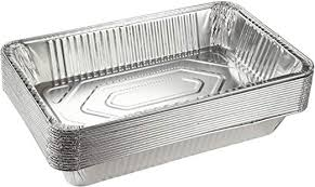 Aluminum Pan Sizes Chart Aluminum Foil Pans 15 Piece Full Size Deep Disposable Steam Table Pans For Baking Roasting Broiling Cooking 20 5 X 3 3 X 13 Inches