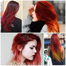 Red Ombre Hair Color Trend
