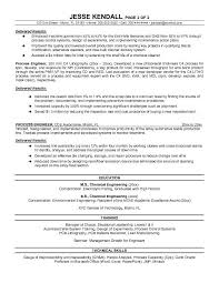 Semiconductor Process Engineer Sample Resume